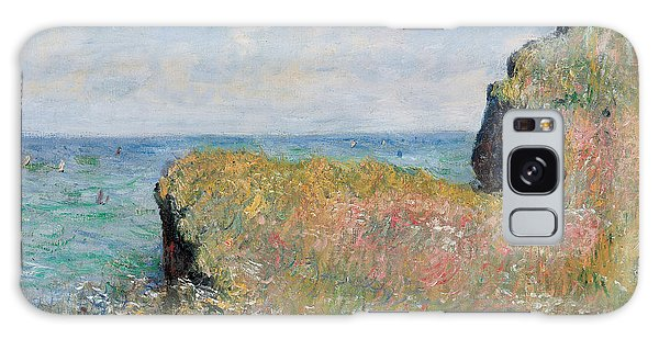 Hills Galaxy Case - Edge Of The Cliff Pourville by Claude Monet