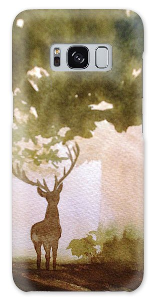 Edge Of The Forrest Galaxy Case by Marilyn Jacobson