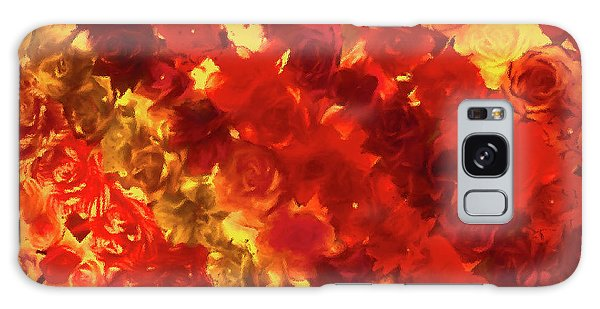 Edgy Flowers Through Glass Galaxy Case