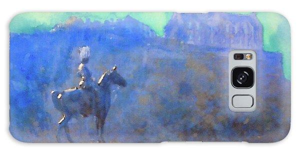 Edinburgh Castle Horse Statue Galaxy Case by Richard James Digance