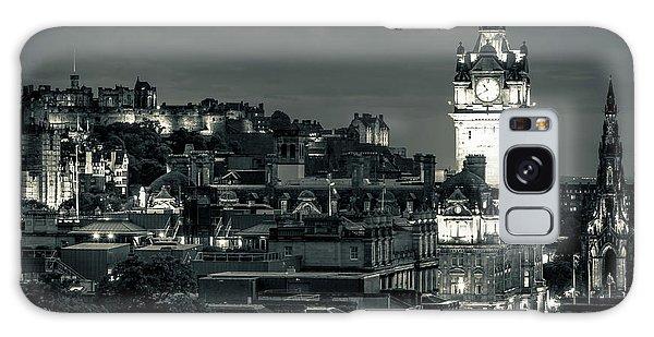 Edinburgh In Black And White Galaxy Case
