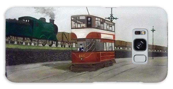 Edinburgh Tram With Goods Train Galaxy Case