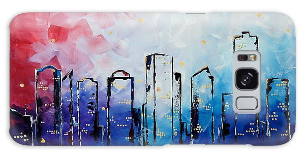 Edmonton City Skyline Galaxy Case