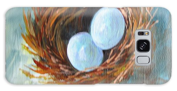 Eggs In A Nest Galaxy Case by Gloria Turner
