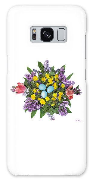 Eggs In Dandelions, Lilacs, Violets And Tulips Galaxy Case