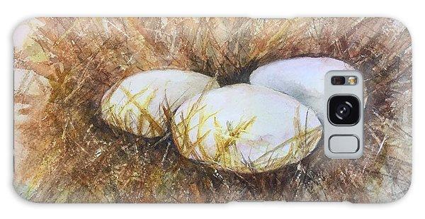 Eggs On Straw Galaxy Case