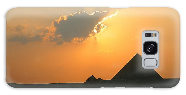 Egpytian Sunset Behind Cloud Galaxy Case