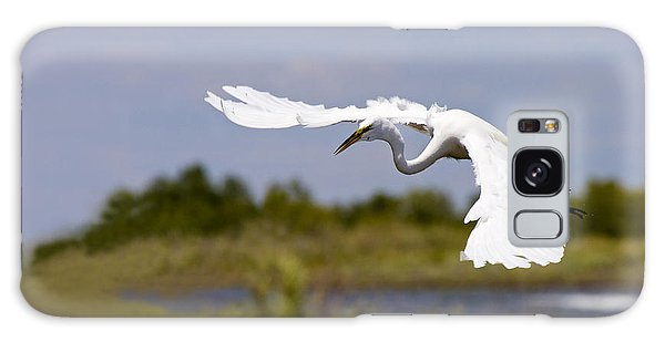 Egret Galaxy Case - Egret Ballet by Mike  Dawson