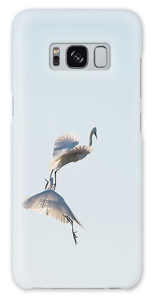 Egret Dance 2 Galaxy Case