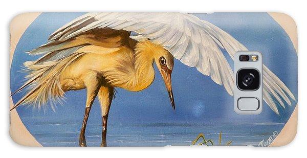 Egret Fishing Galaxy Case by Sigrid Tune