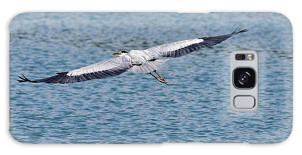 Egret Galaxy Case - Great Blue Heron In Flight by Paul Quinn