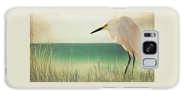 Egret In Morning Light Galaxy Case