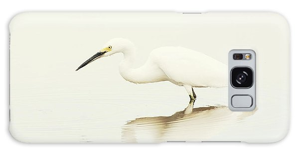 Egret In Vanilla Tones Galaxy Case