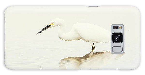 Egret In Vanilla Tones Galaxy Case by Ruth Jolly