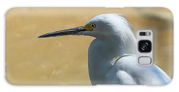Egret Pose Galaxy Case
