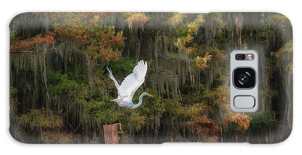 Egret Sanctuary Galaxy Case