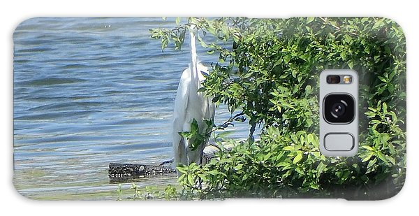 Great Egret In The Marsh Galaxy Case