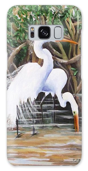Egrets And Mangroves Galaxy Case