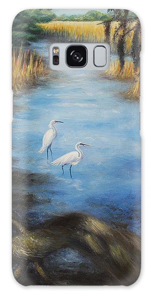 Egrets On The Ashley At Charles Towne Landing Galaxy Case