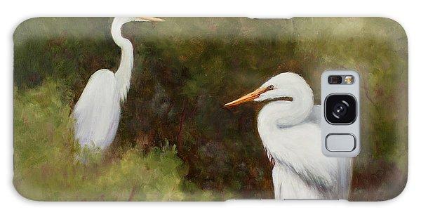 Egrets Roosting Galaxy Case