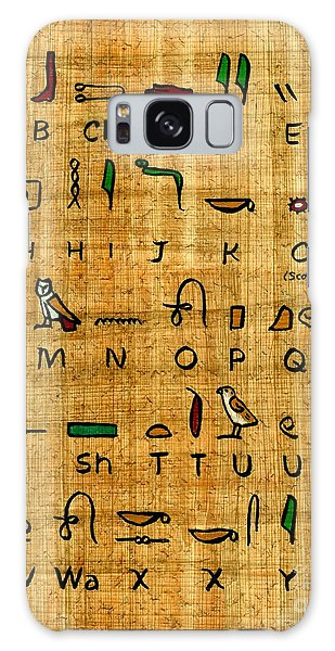 Egyptian Alphabet Galaxy Case