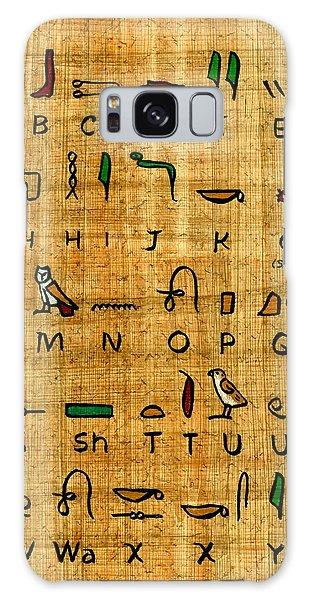 Egyptian Alphabet Galaxy Case