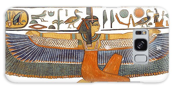 Egypt Galaxy Case - Egyptian Goddess Maat With Outstretched Wings by Ben  Morales-Correa