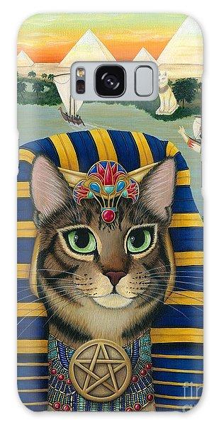 Egyptian Pharaoh Cat - King Of Pentacles Galaxy Case