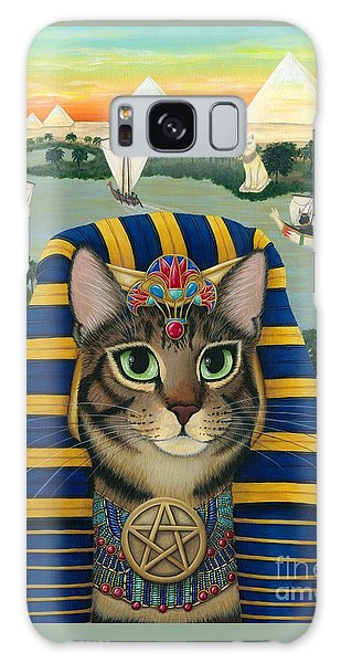 Egyptian Pharaoh Cat - King Of Pentacles Galaxy Case
