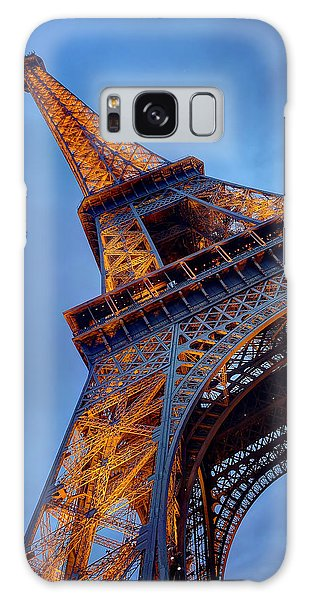 Eiffel Dressed In Gold Galaxy Case