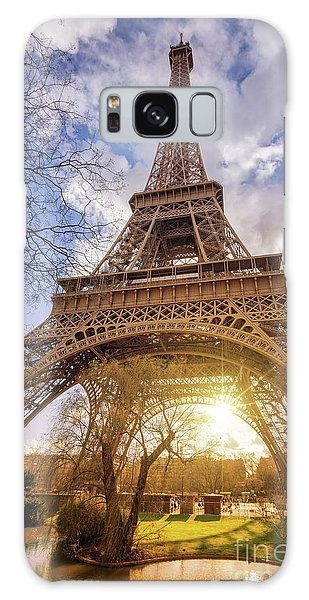 Eiffel Sunset Galaxy Case by Delphimages Photo Creations
