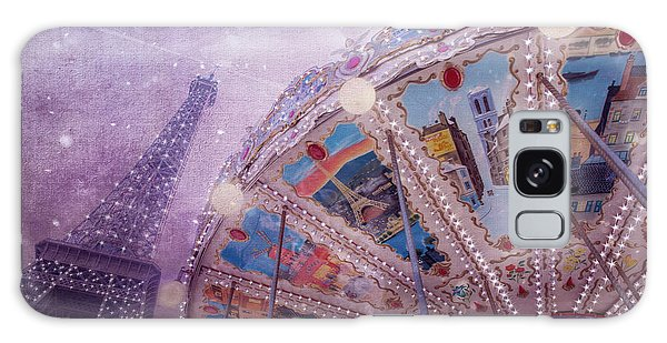 Galaxy Case featuring the photograph Eiffel Tower And Carousel by Clare Bambers