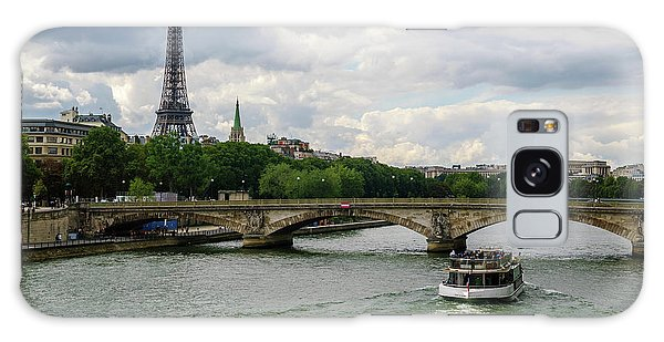 Eiffel Tower And The River Seine Galaxy Case