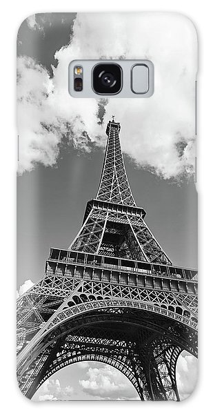 Eiffel Tower - Black And White Galaxy Case