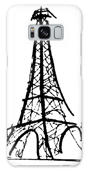 Eiffel Tower Black And White Galaxy Case