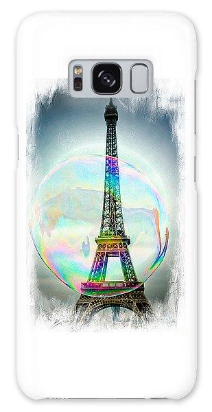 Eiffel Tower Bubble Galaxy Case