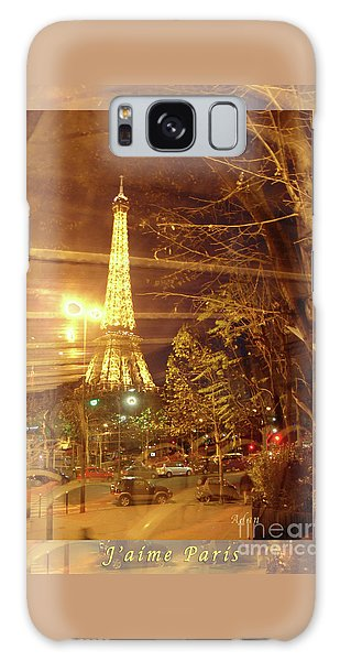 Eiffel Tower By Bus Tour Greeting Card Poster Galaxy Case