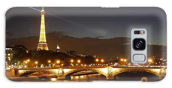 Eiffel Tower By Night Galaxy Case