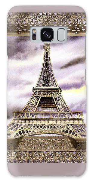 Galaxy Case featuring the painting Eiffel Tower Laces Iv  by Irina Sztukowski
