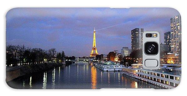 Eiffel Tower Over The Seine Galaxy Case