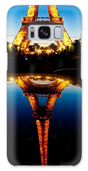 Eiffel Tower Reflection Galaxy Case