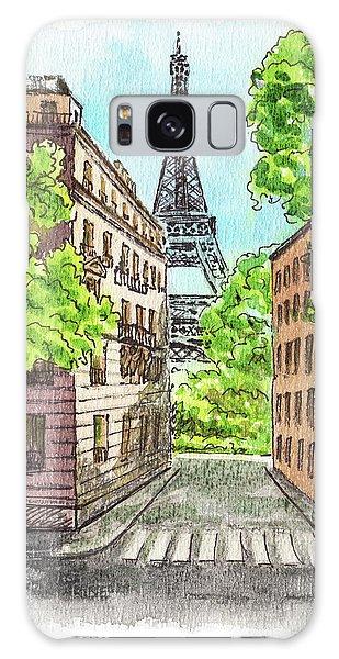 Galaxy Case featuring the painting Eiffel Tower Summer Paris Day by Irina Sztukowski