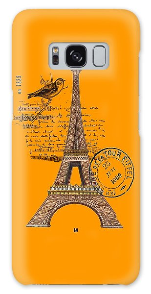 Eiffel Tower T Shirt Design Galaxy Case