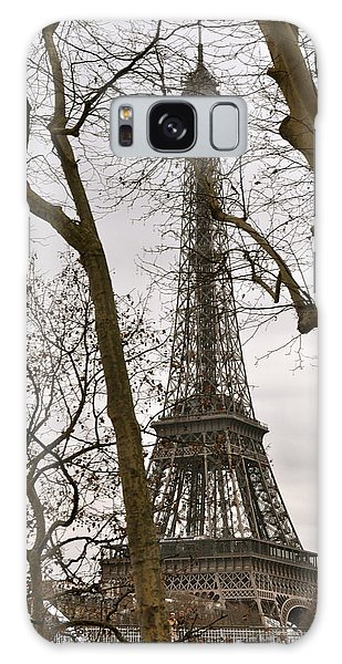 Eiffel Tower Through Branches Galaxy Case