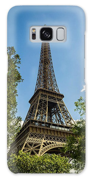 Eiffel Tower Through Trees Galaxy Case