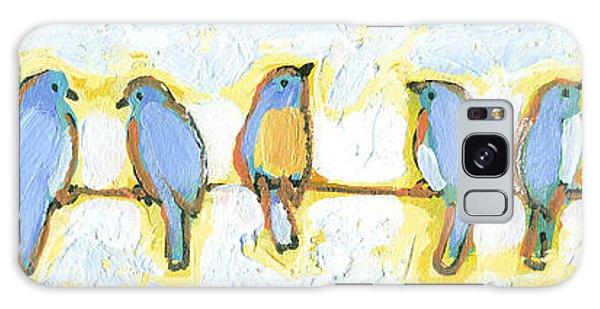 Bluebird Galaxy Case - Eight Little Bluebirds by Jennifer Lommers