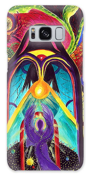 Violet Angel Galaxy Case by Marina Petro