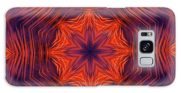 Eight Petal Orange Kaleidoscope Galaxy Case