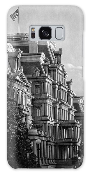 Eisenhower Executive Office Building In Black And White Galaxy Case
