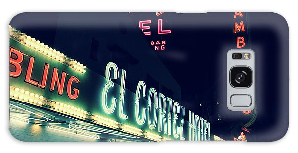 Galaxy Case featuring the photograph El Cortez Hotel At Night by SR Green
